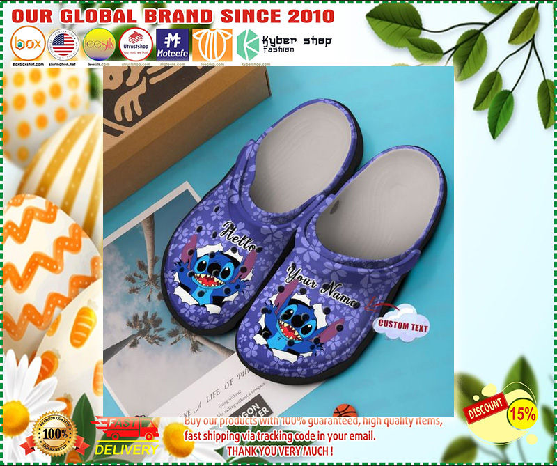 Stitch Hello custom name croc shoes  - LIMITED EDITION
