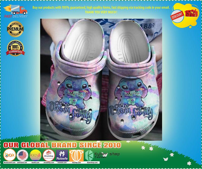 Stitch ohana family means crocband crocs shoes - LIMITED EDITION