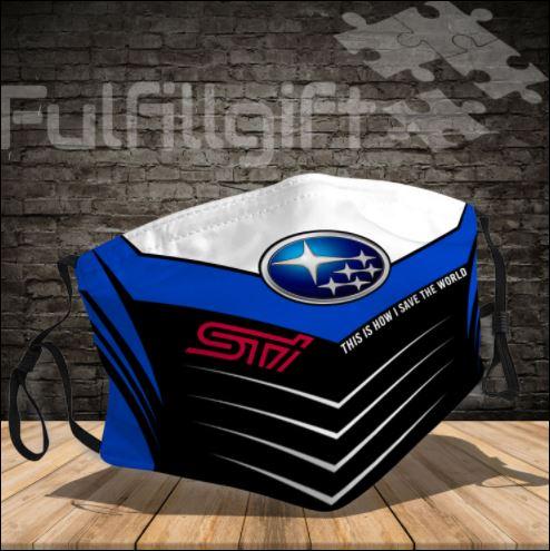 Subaru logo 3D face mask