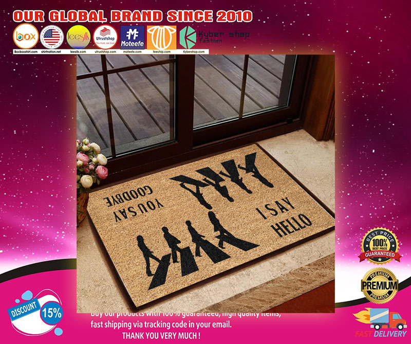 The Beatles abbey road I say hello you say goodbye doormat1