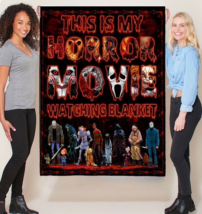 This is my horror movie watching blanket - Hothot 080920