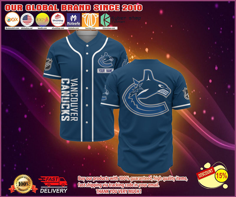 Vancovers Canucks baseball jersey shirt - LIMITED EDITION