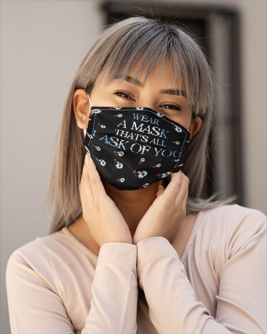 Wear a mask that's all I ask of you face mask - LIMITED EDITON BBS