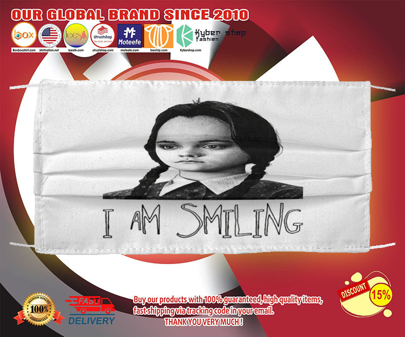 Wednesday Addams I am smiling face mask - LIMITED EDITION