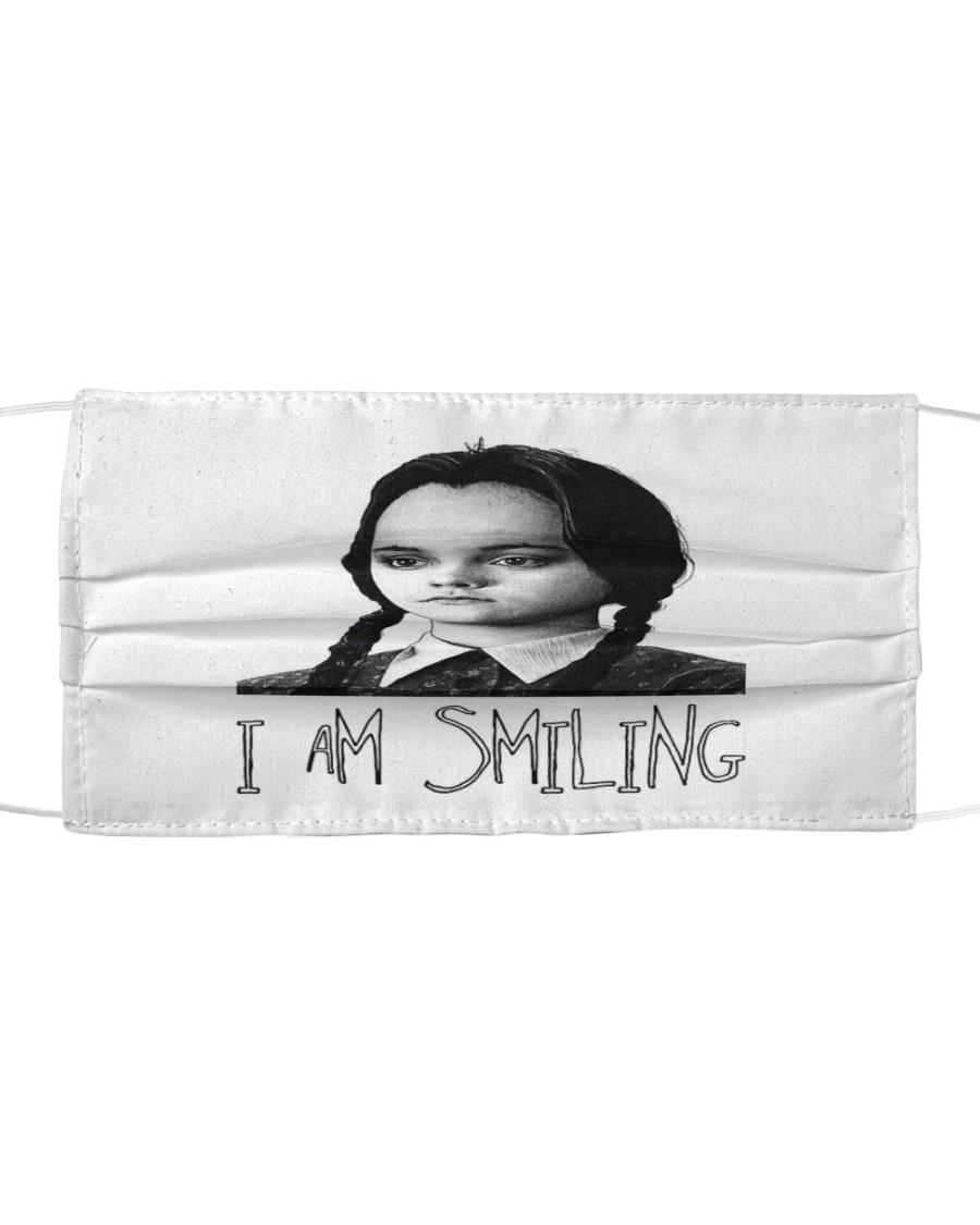 Wednesday addams i am smiling face mask 2