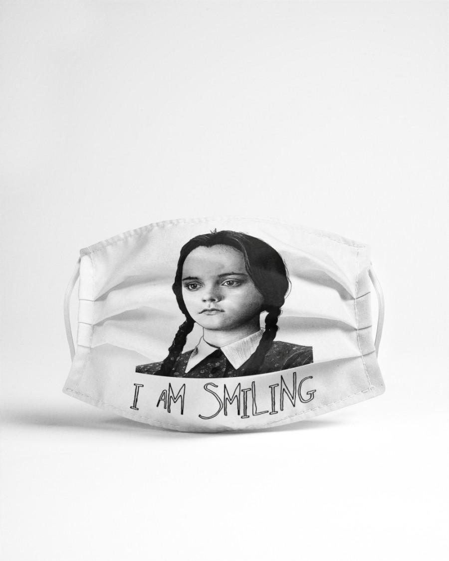 Wednesday addams i am smiling face mask