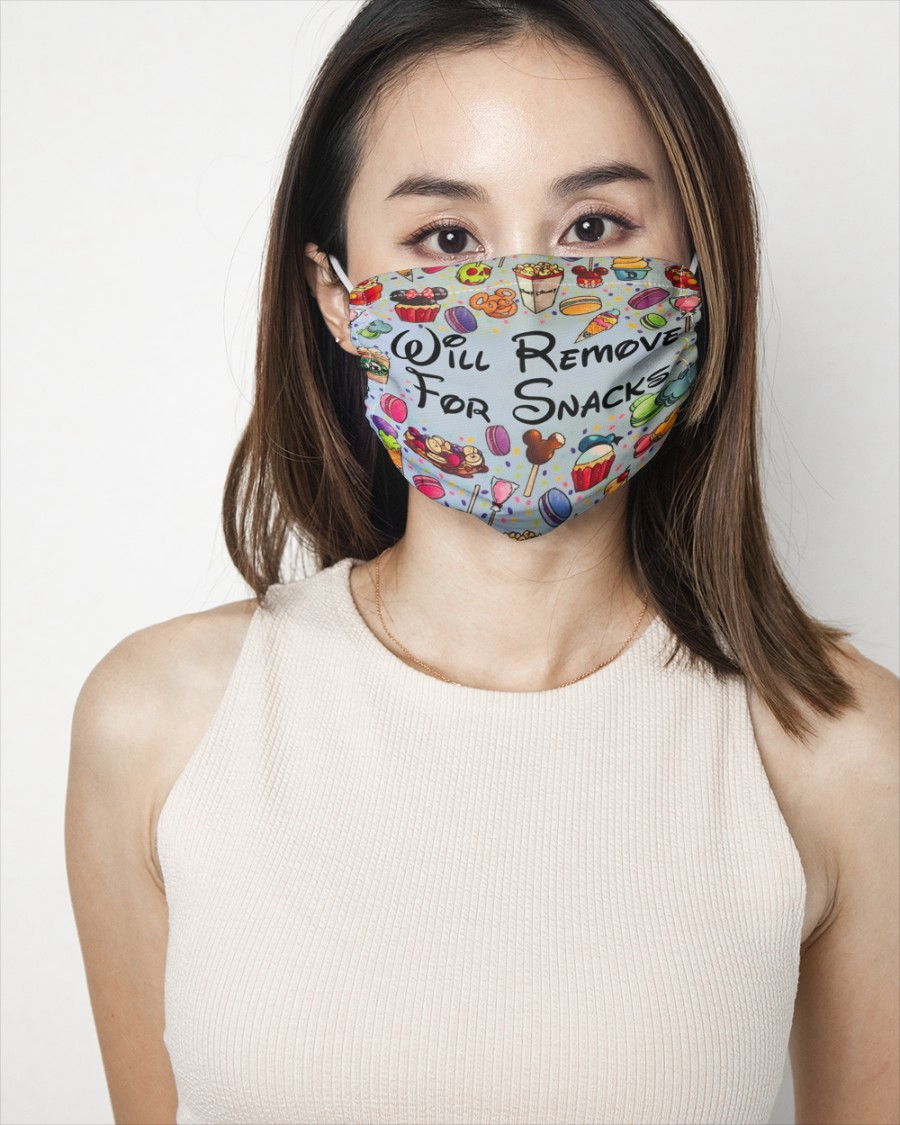 Will remove for snacks disney face mask 1