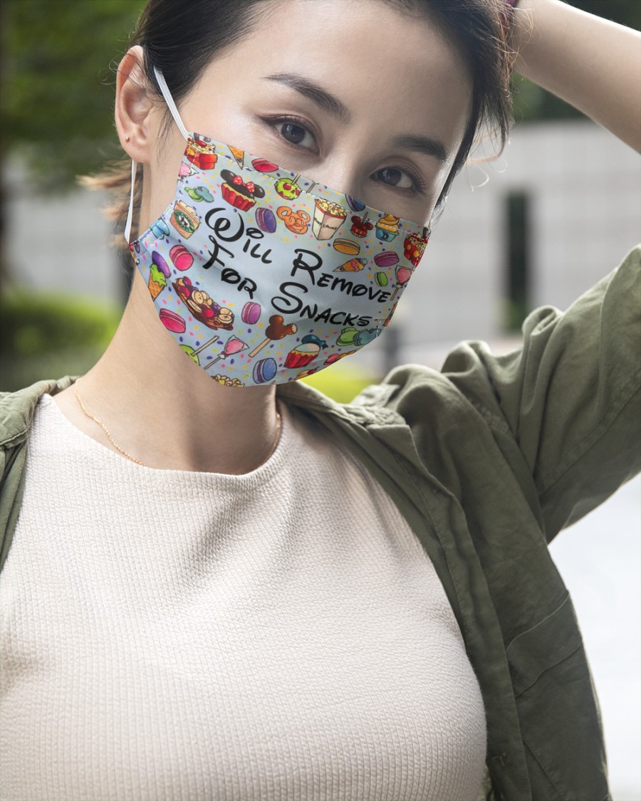 Will remove for snacks disney face mask 3