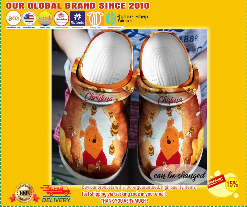 Winnie the Pooh custom name croc shoes  - LIMITED EDITION
