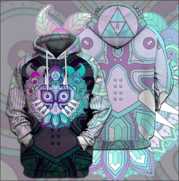 Zelda Link's Mask 3D zip hoodie