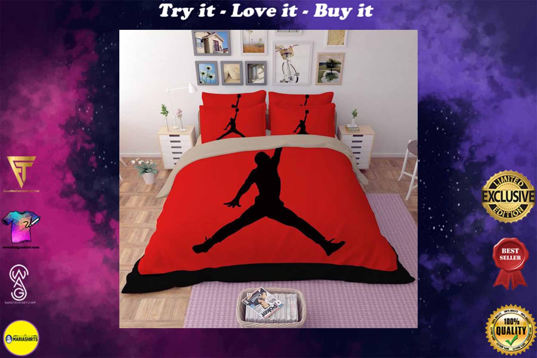 [special edition] air jordan jumpman bedding set - maria