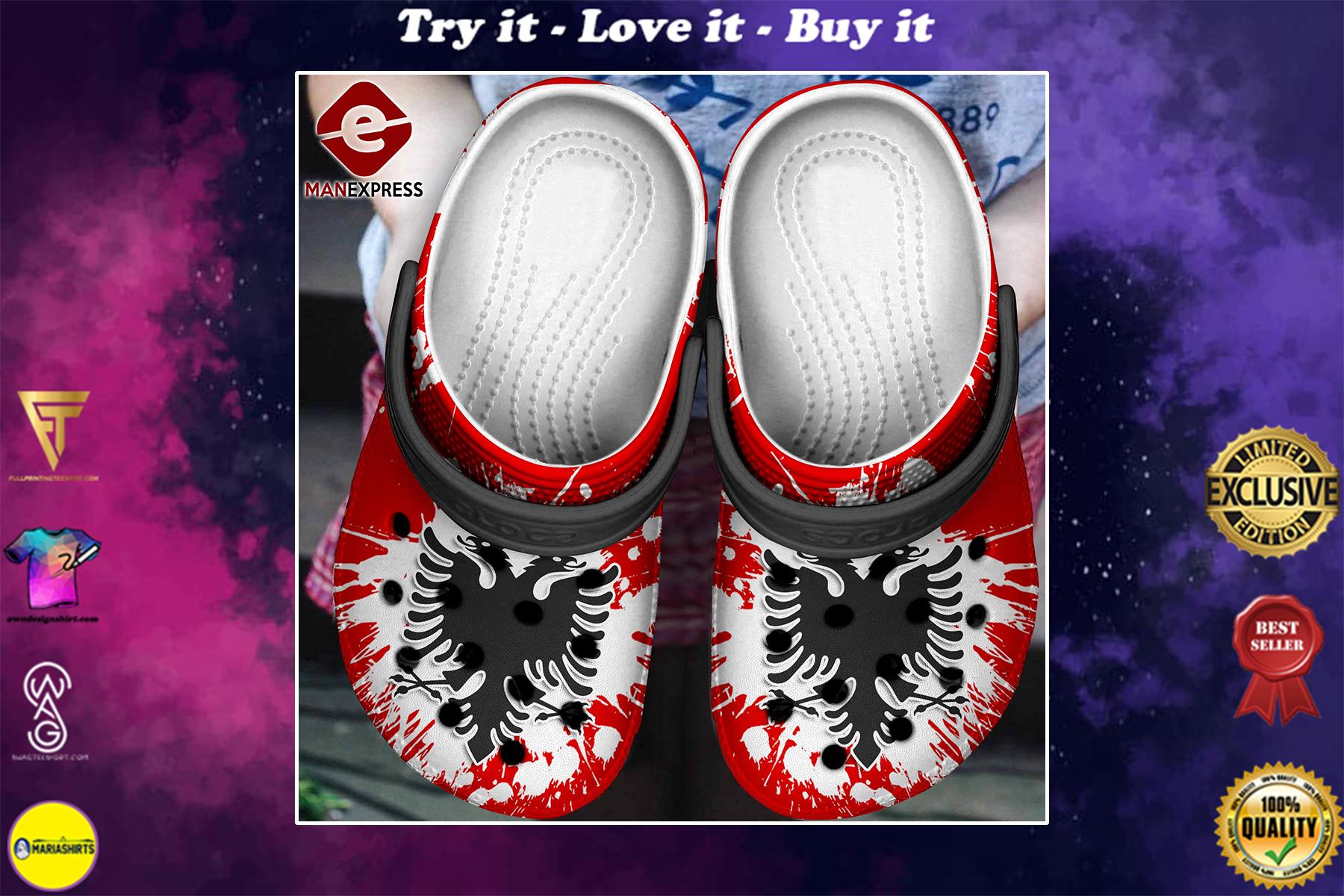 [special edition] albania flag crocs shoes - maria