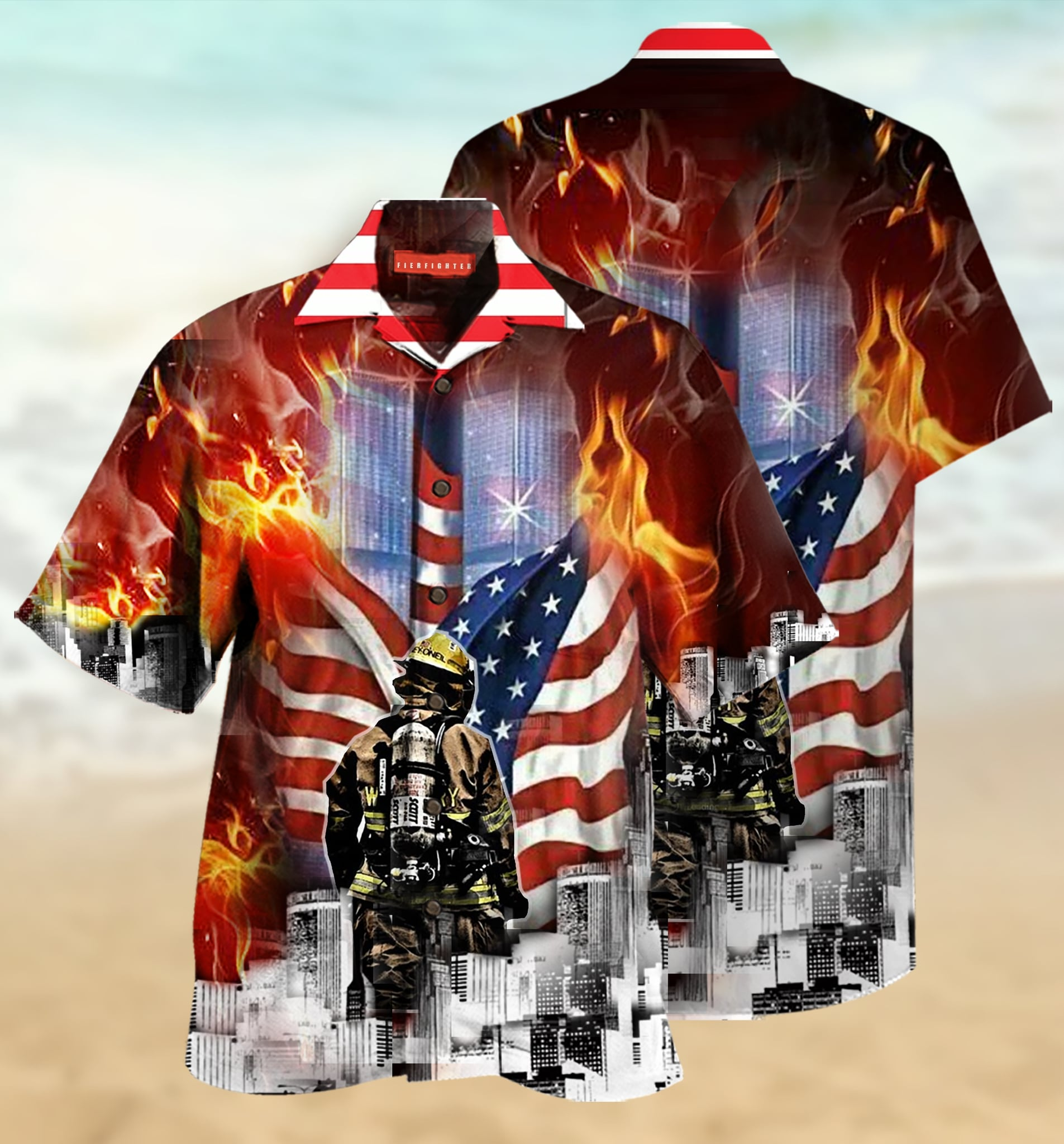 [special edition] always remember firefighter hawaiian shirt - Maria