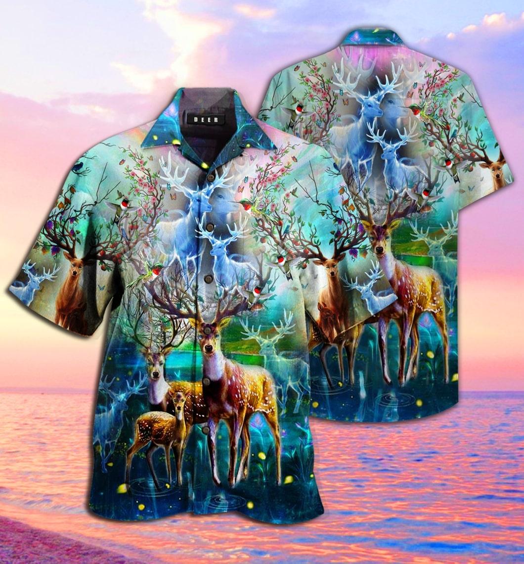 [special edition] amazing deer hawaiian shirt - Maria