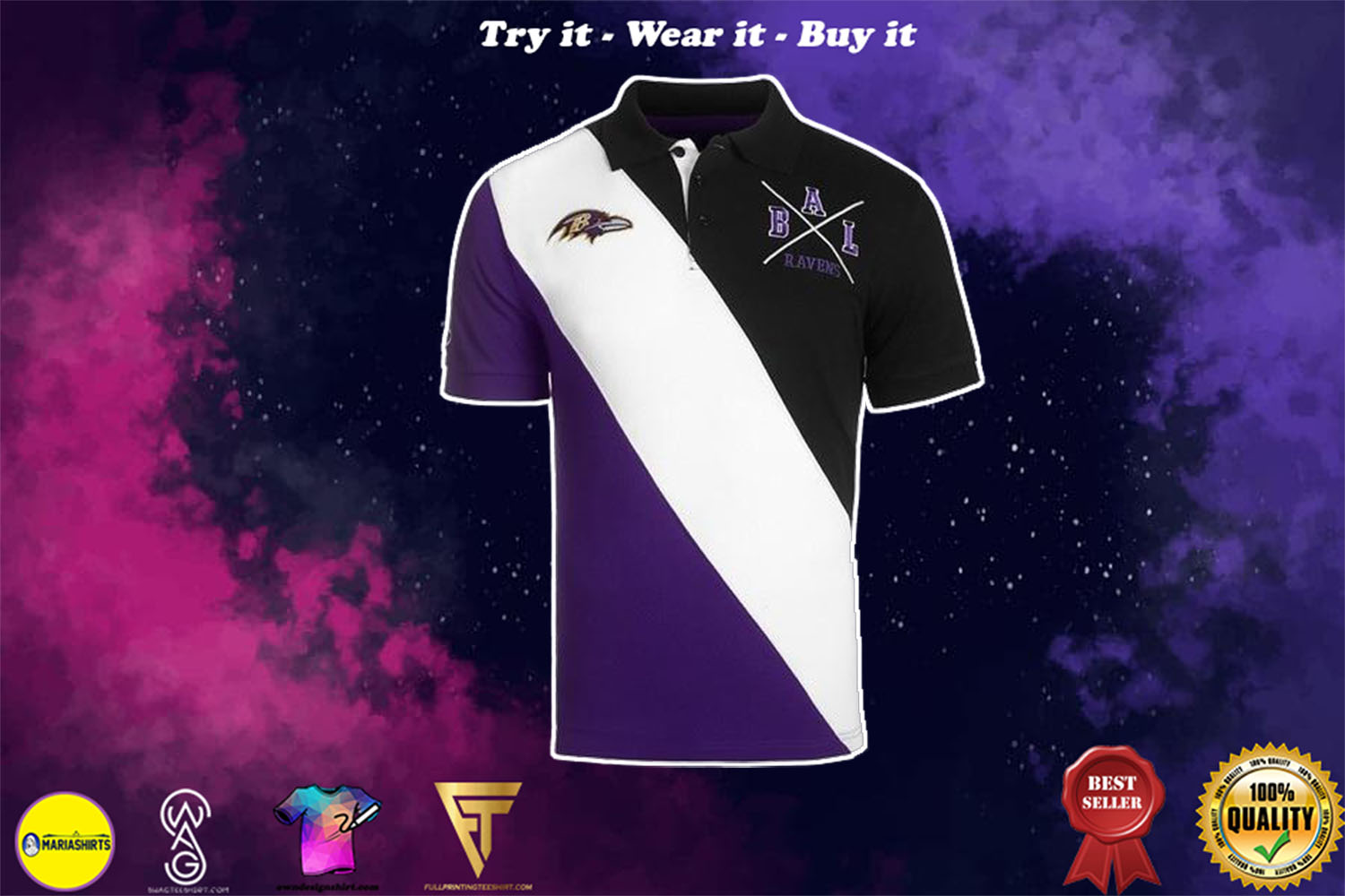 [special edition] baltimore ravens national football league full over print shirt - maria