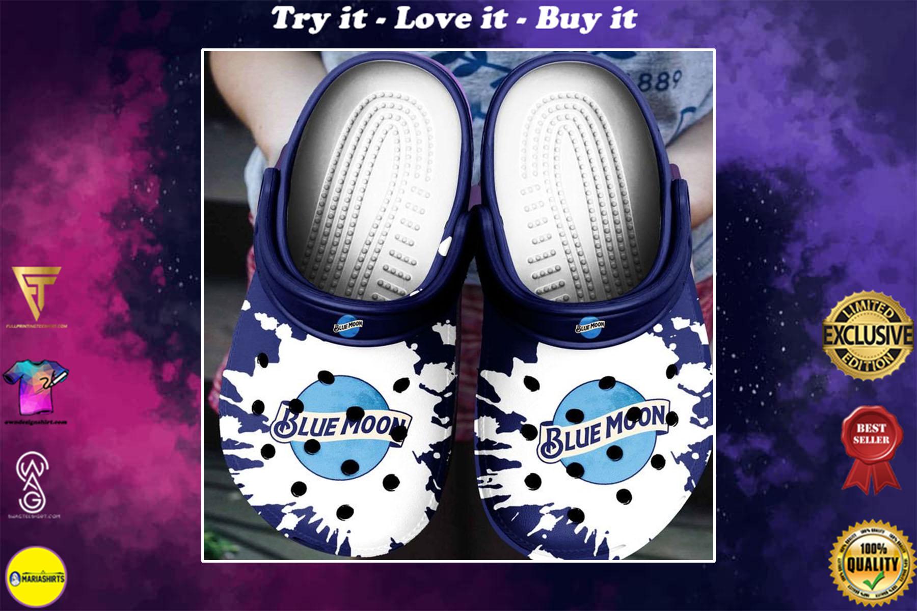[special edition] blue moon beer crocs shoes - maria