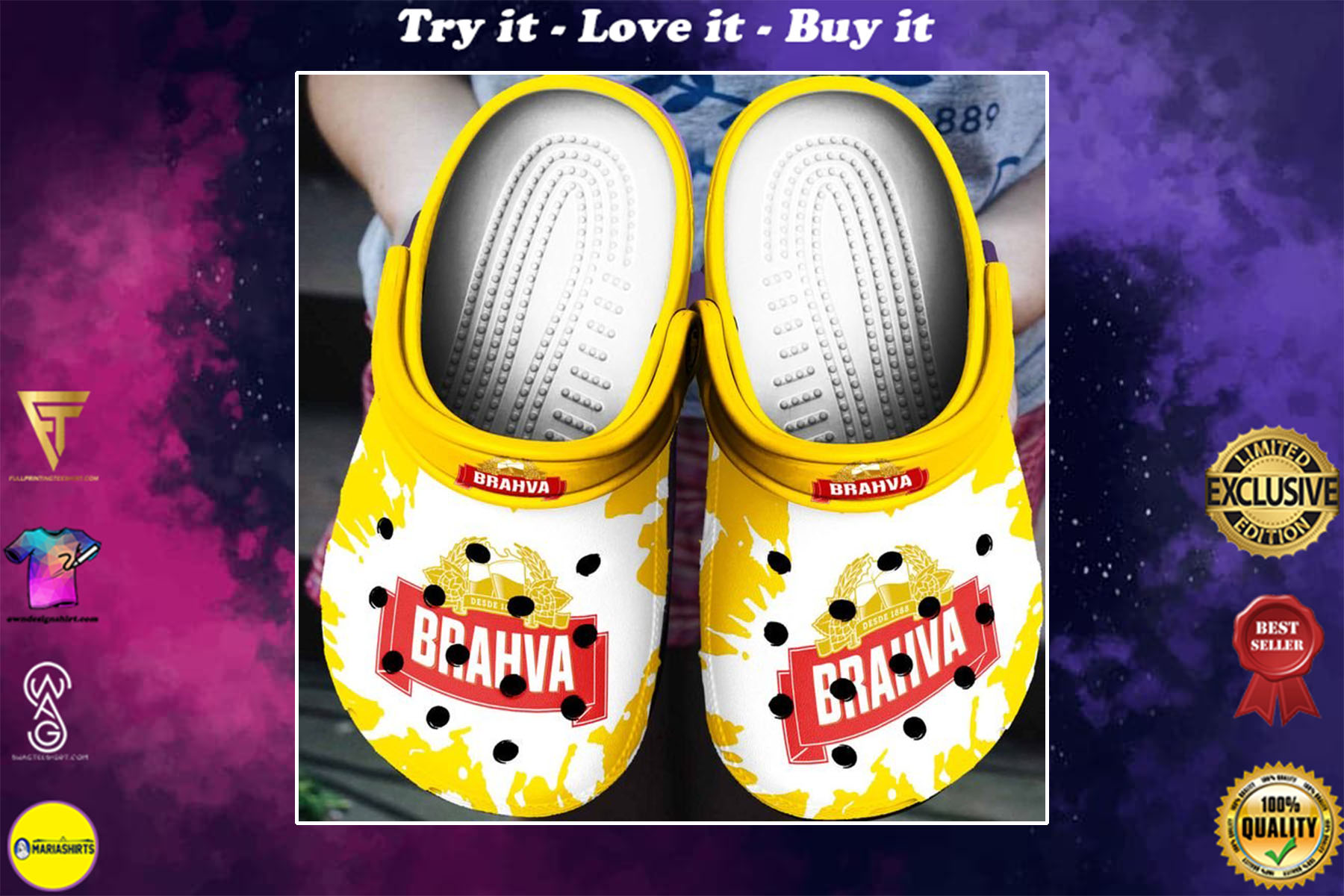 [special edition] brahma beer crocs shoes - maria