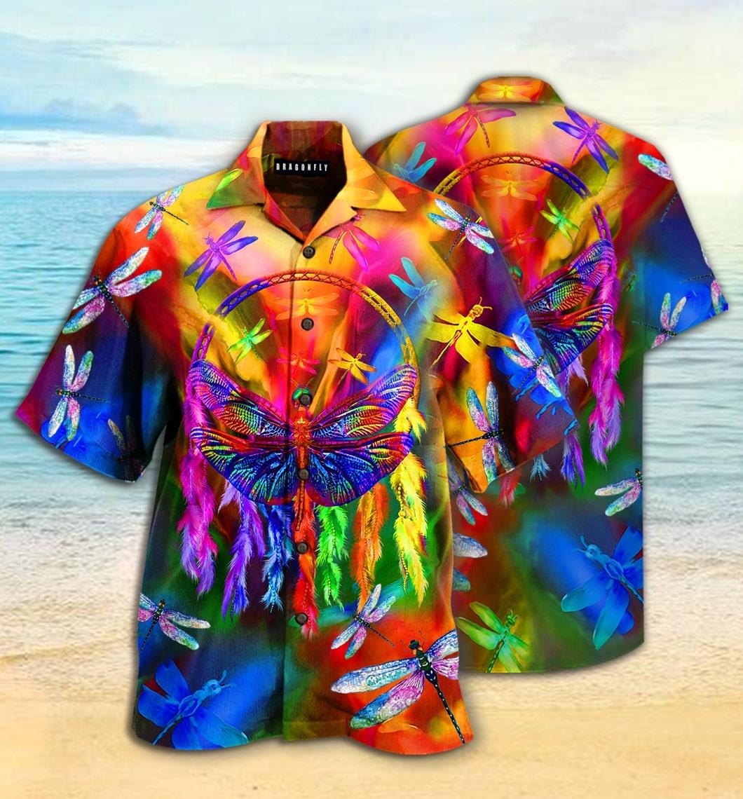 [special edition] colorful dragonfly hawaiian shirt - Maria