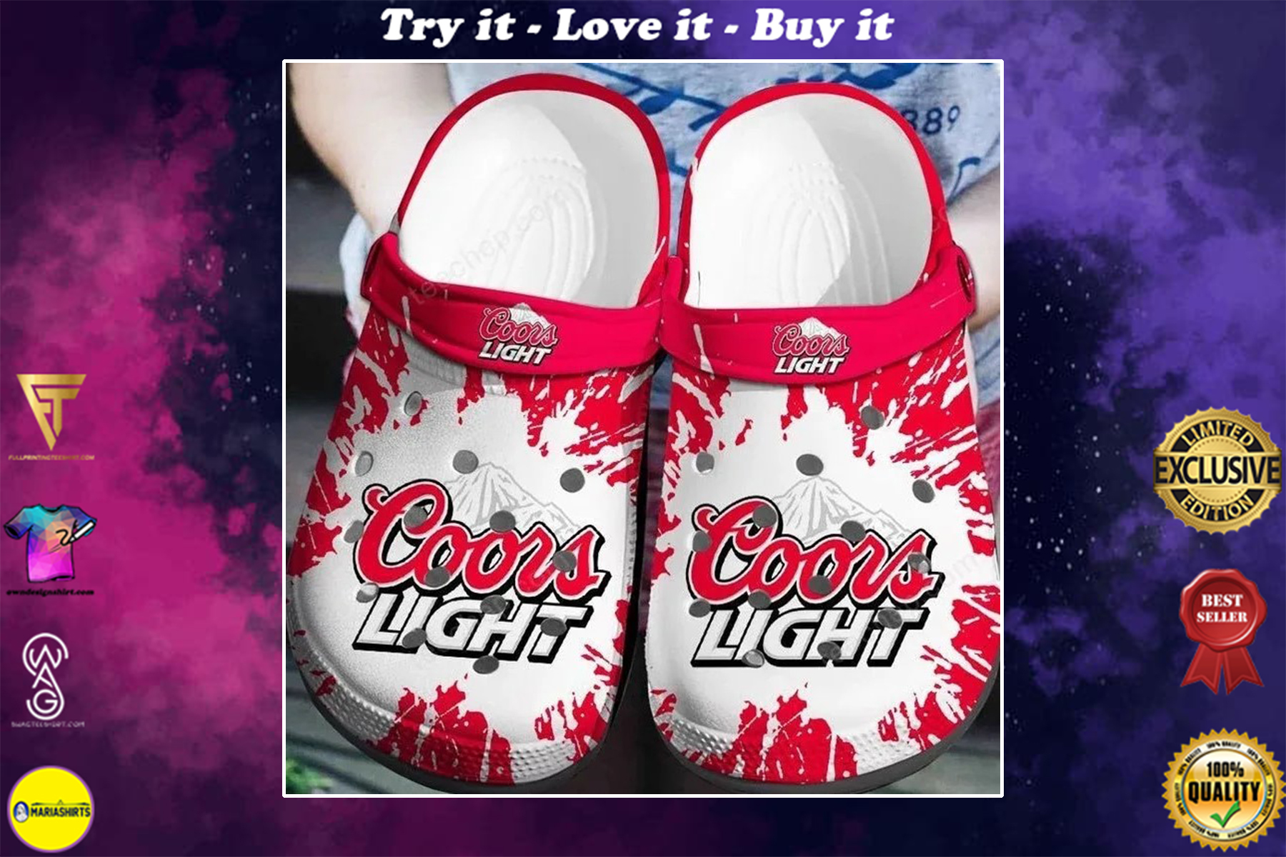 [special edition] coors light beer crocs shoes - maria