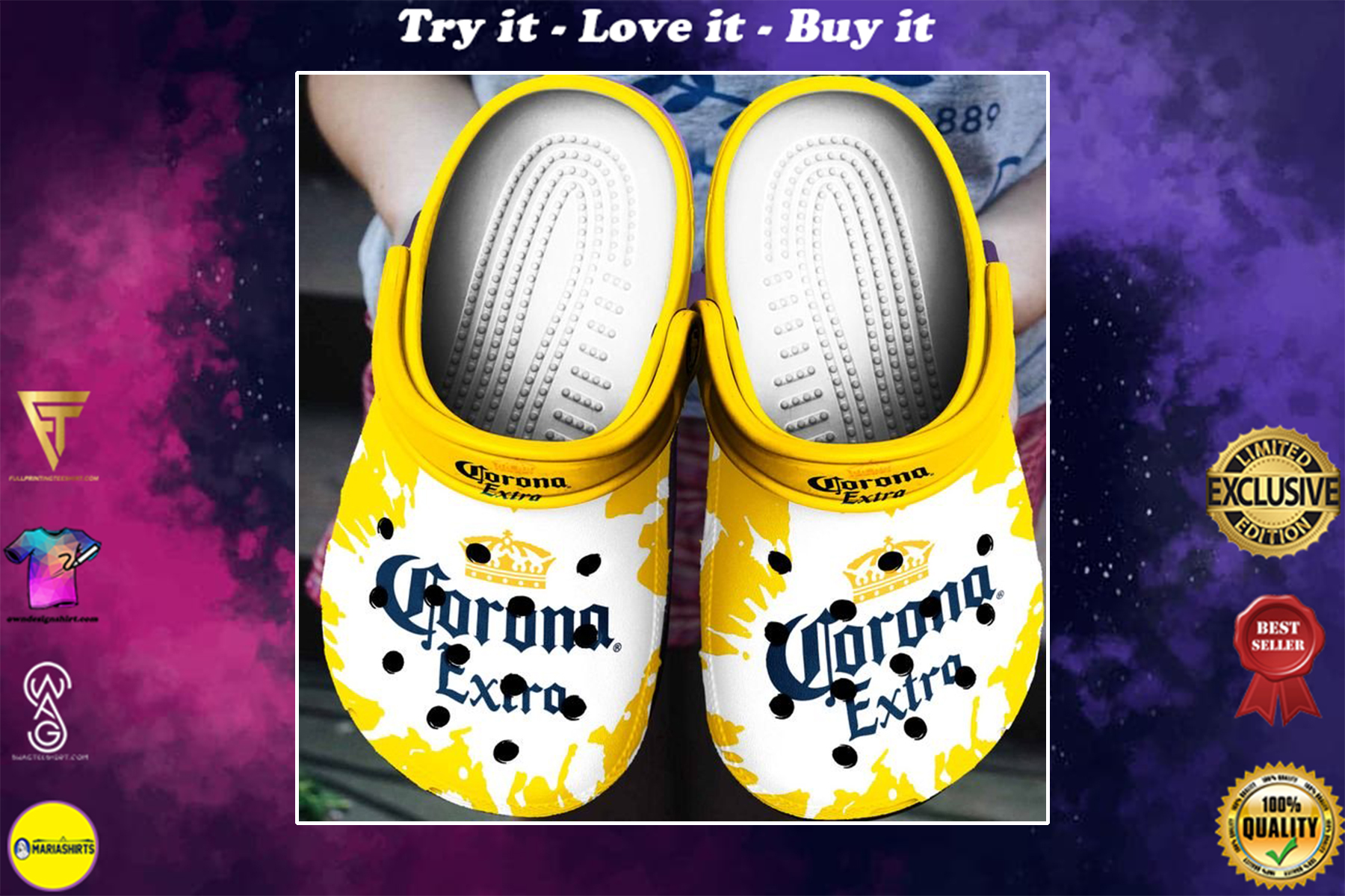 [special edition] corona extra beer crocs shoes - maria
