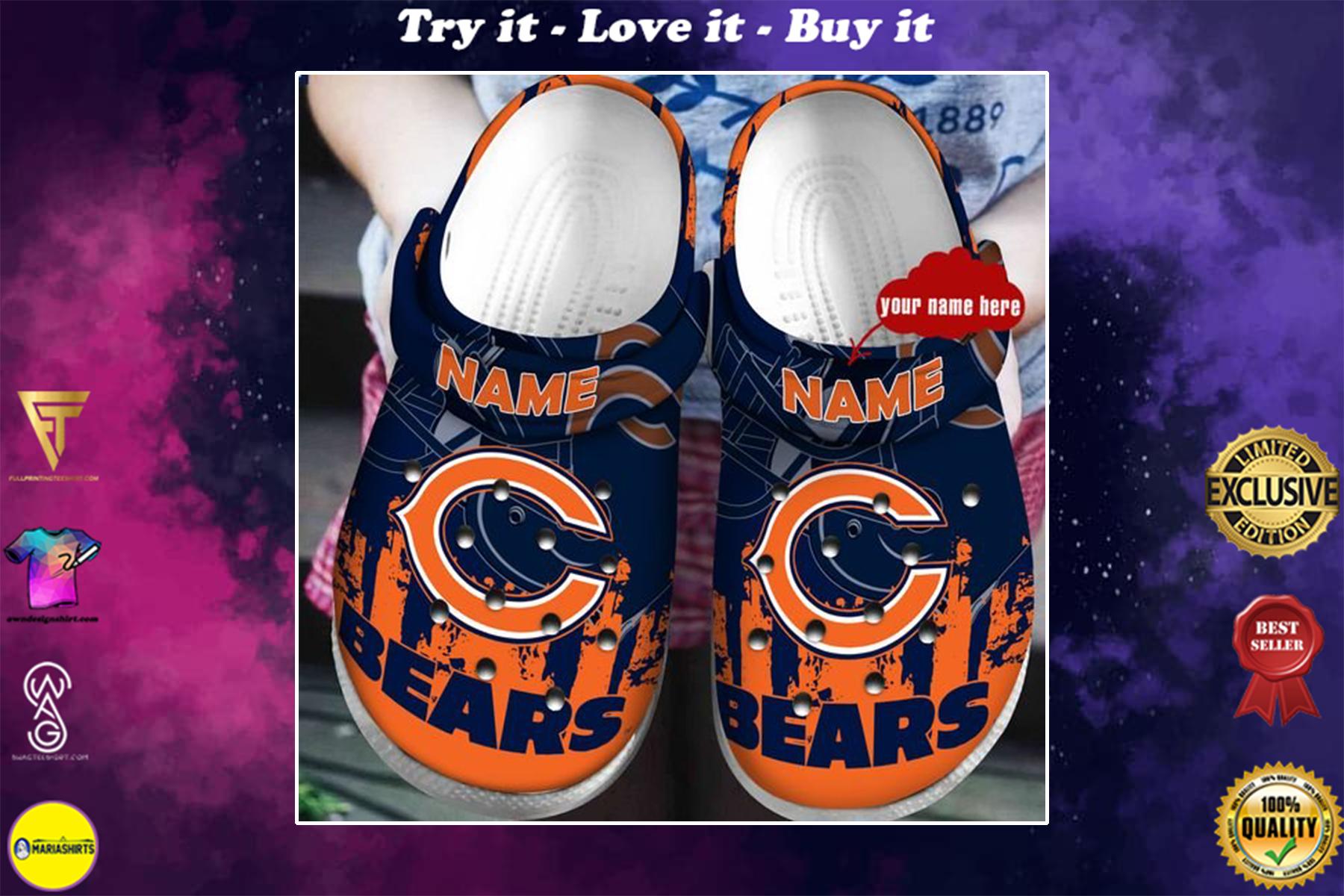 [special edition] crocs custom name chicago bears football team clog - maria