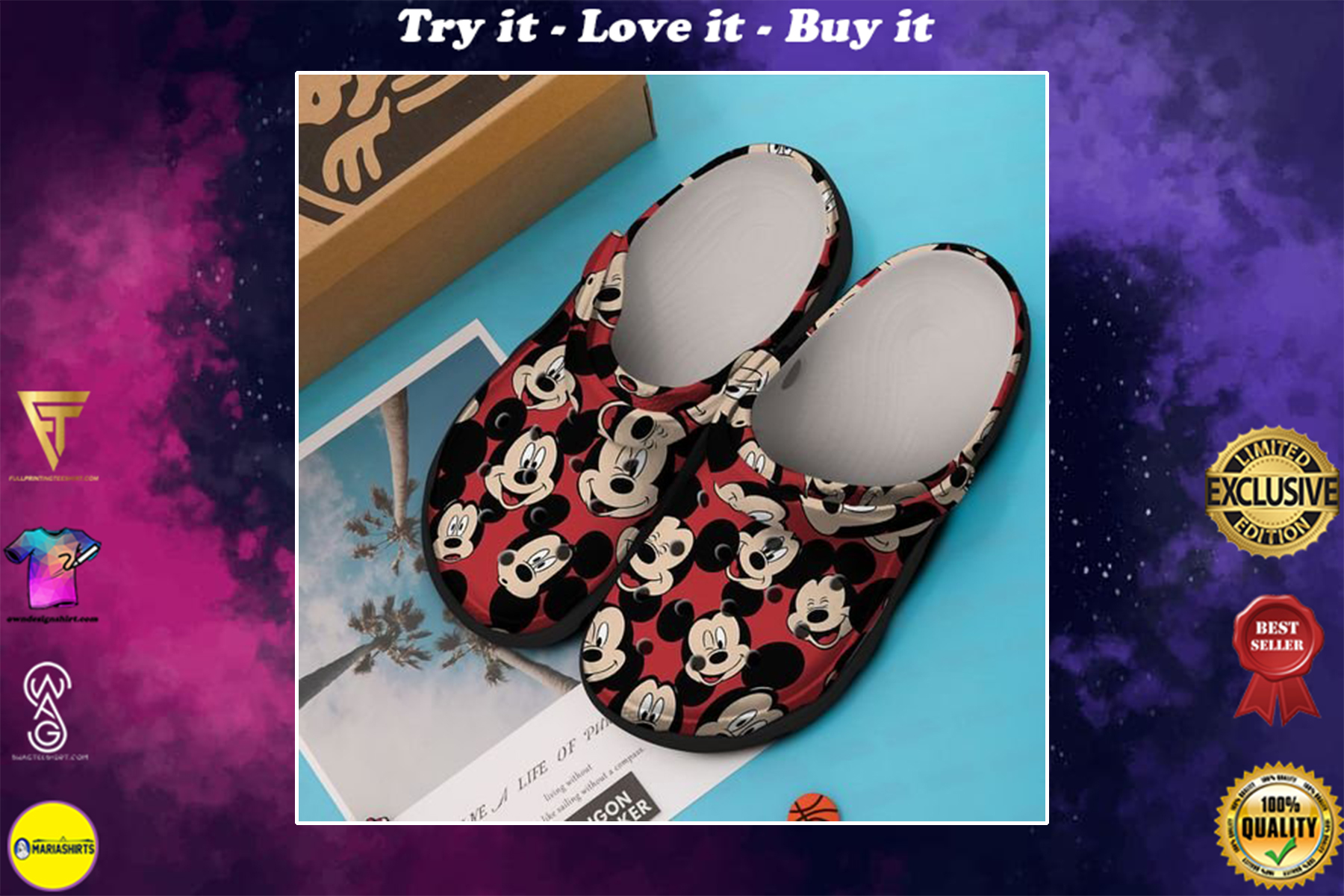 [special edition] crocs mickey mouse in disneyland clog - maria