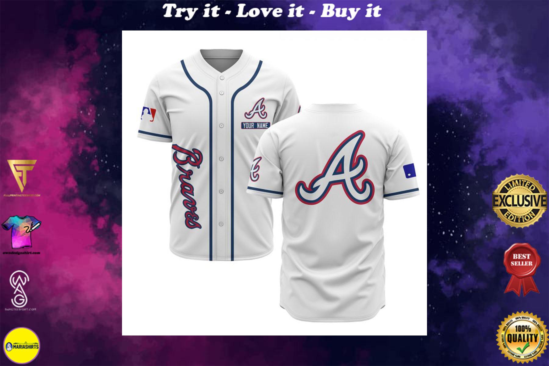 [special edition] custom name atlanta braves baseball shirt - maria