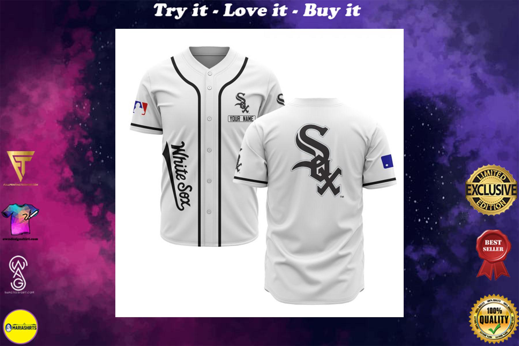 [special edition] custom name chicago white sox baseball shirt - maria
