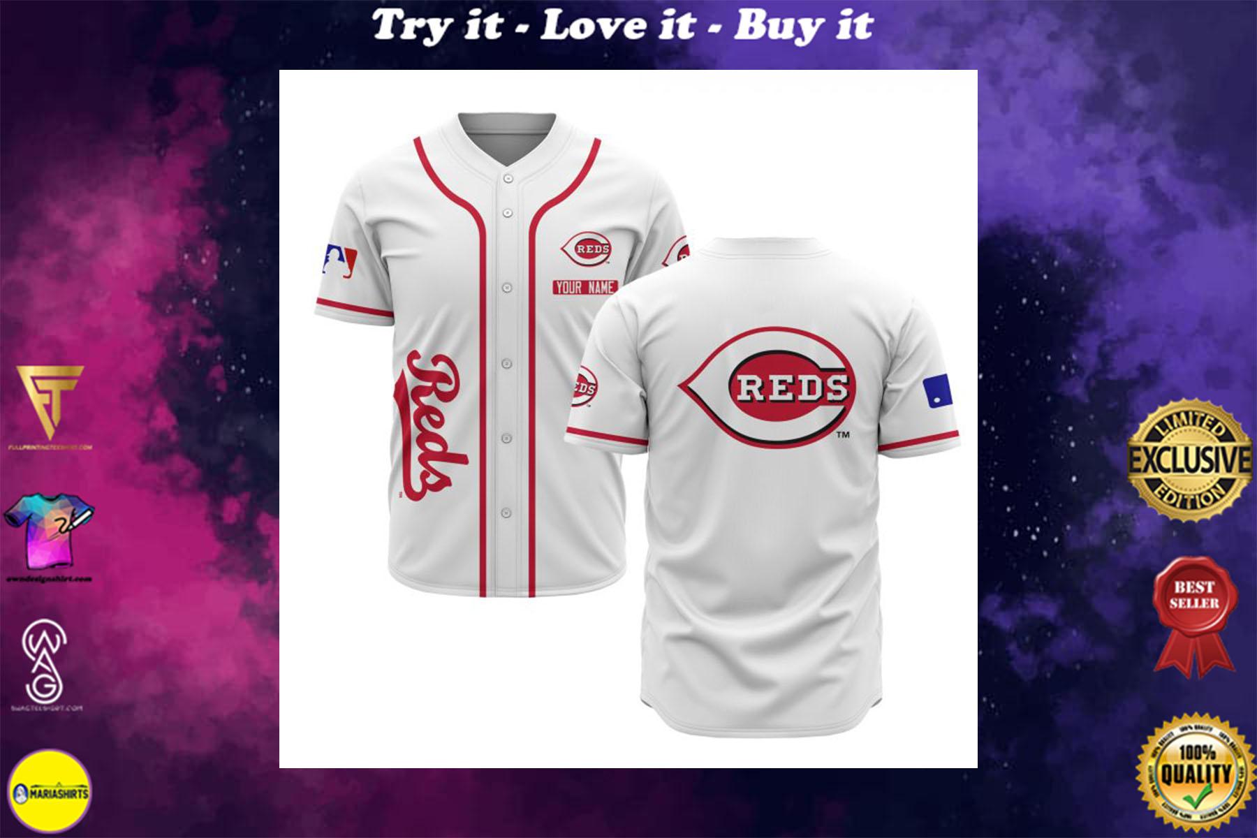[special edition] custom name cincinnati reds baseball shirt - maria