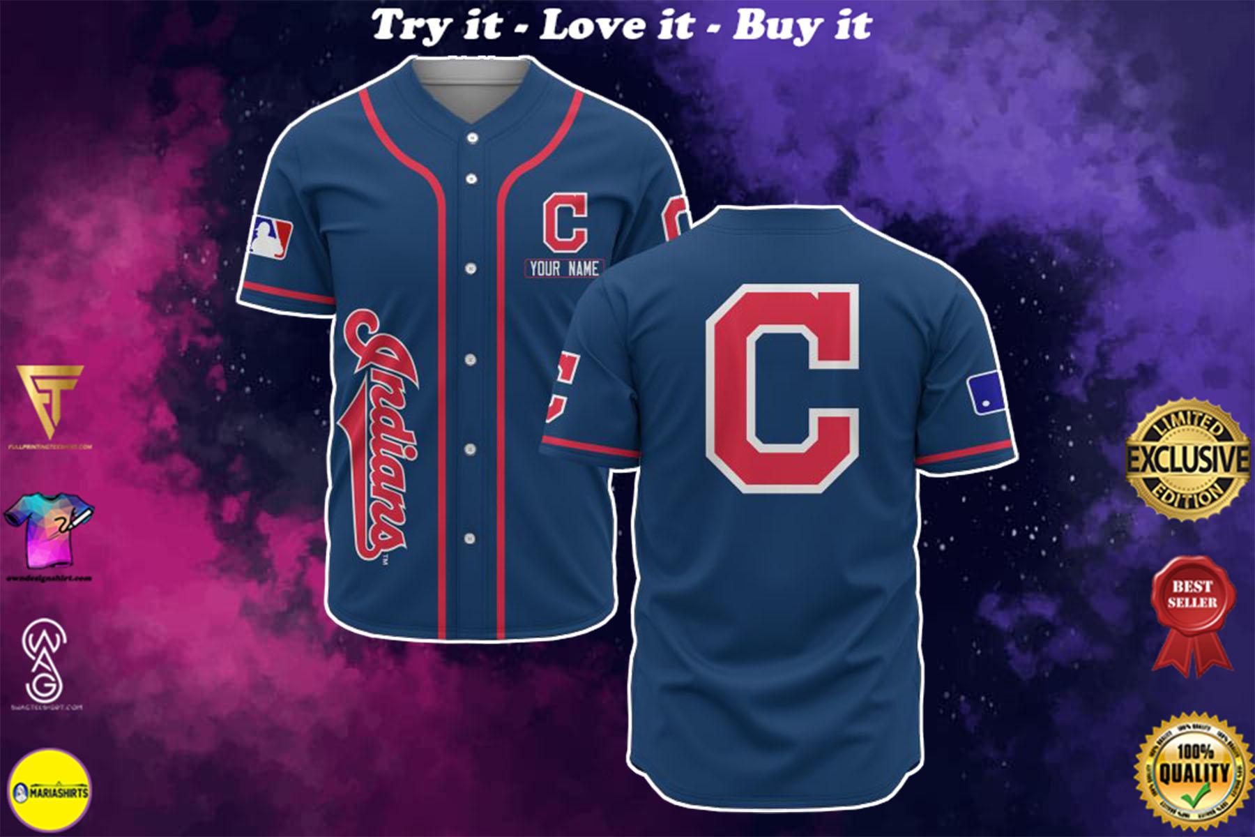 [special edition] custom name cleveland indians baseball shirt - maria