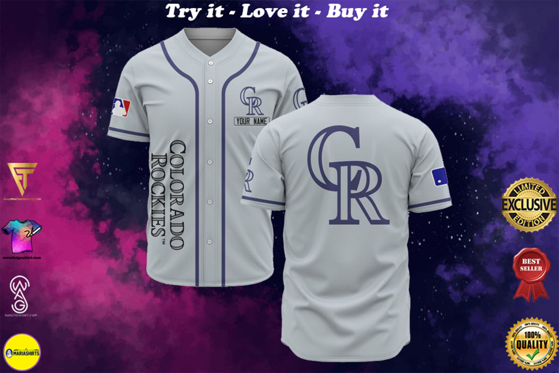 [special edition] custom name colorado rockies baseball shirt - maria
