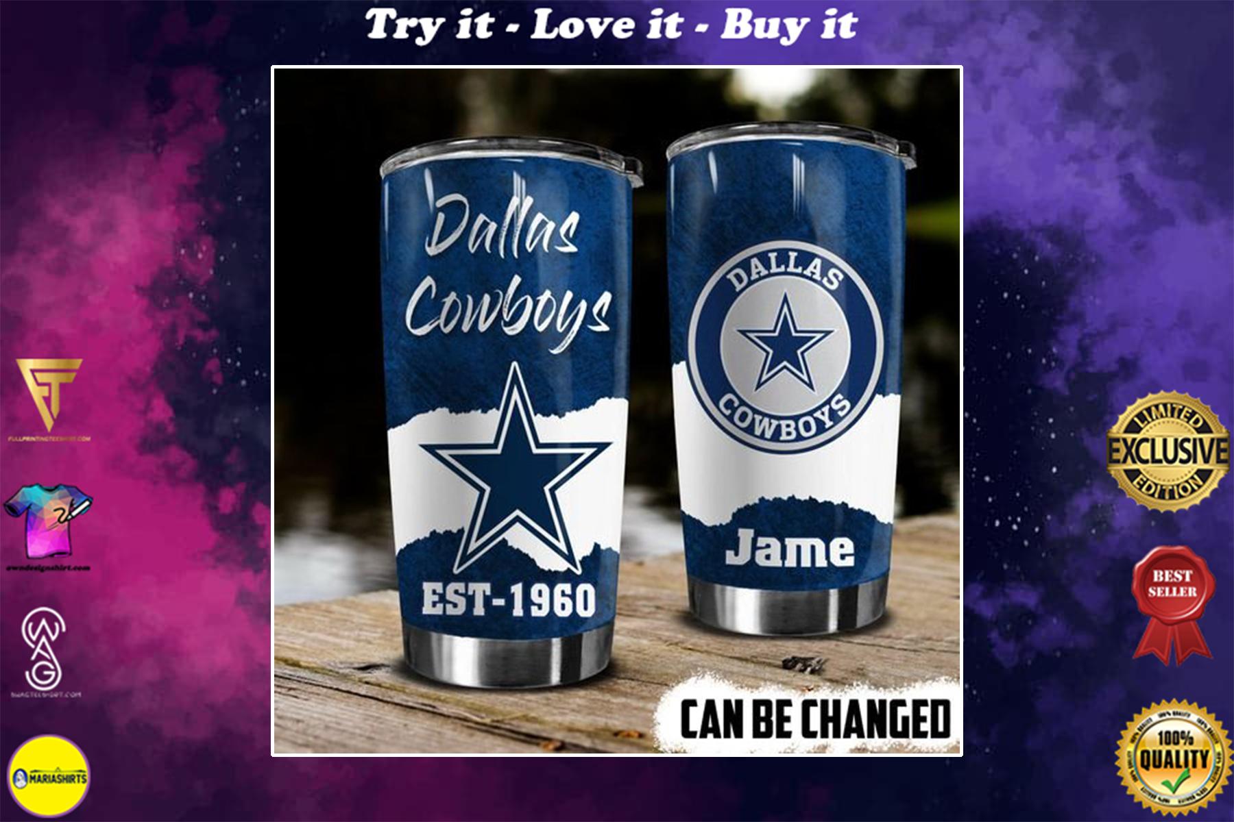 [special edition] custom name dallas cowboys football team tumbler - maria