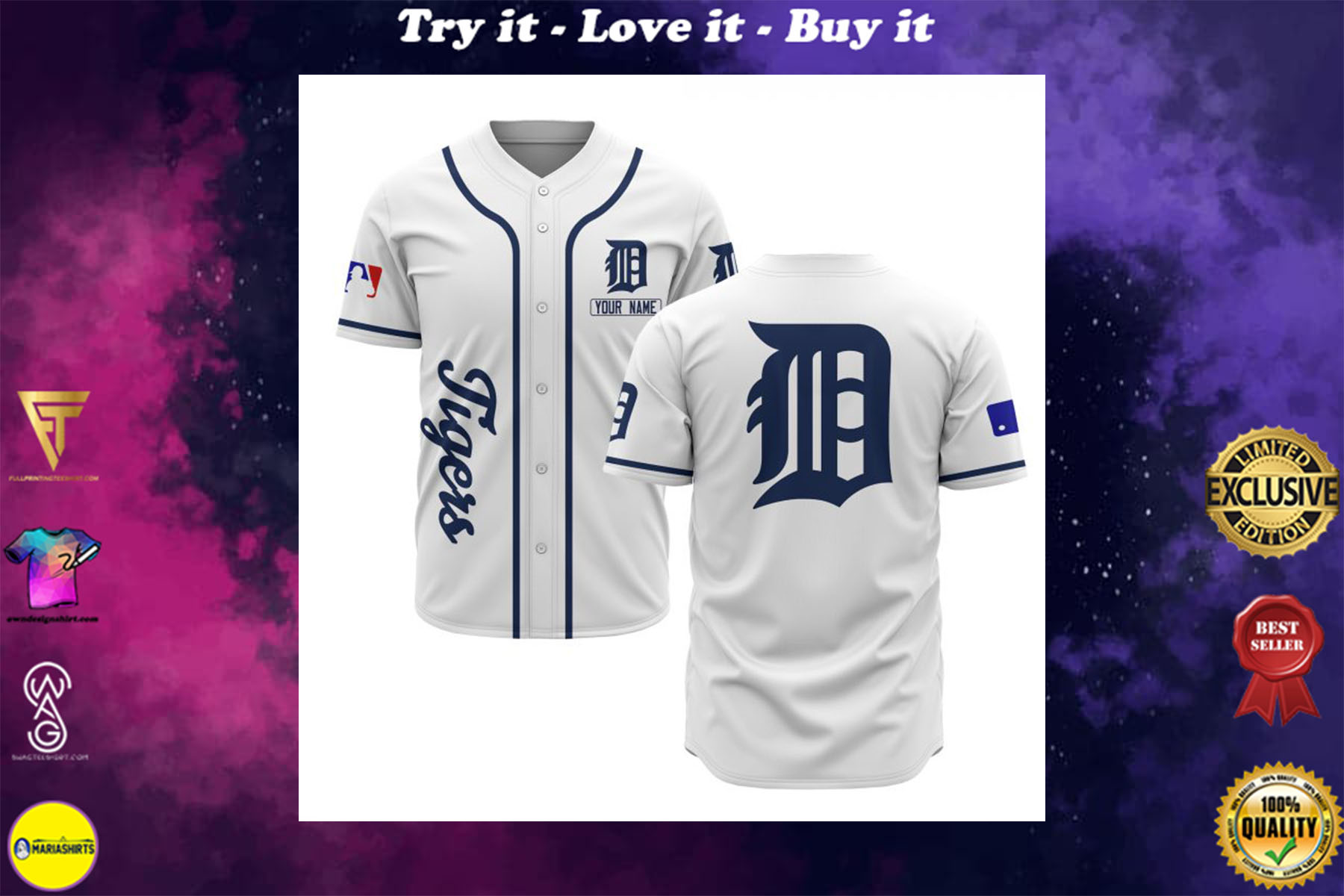 [special edition] custom name detroit tigers baseball shirt - maria