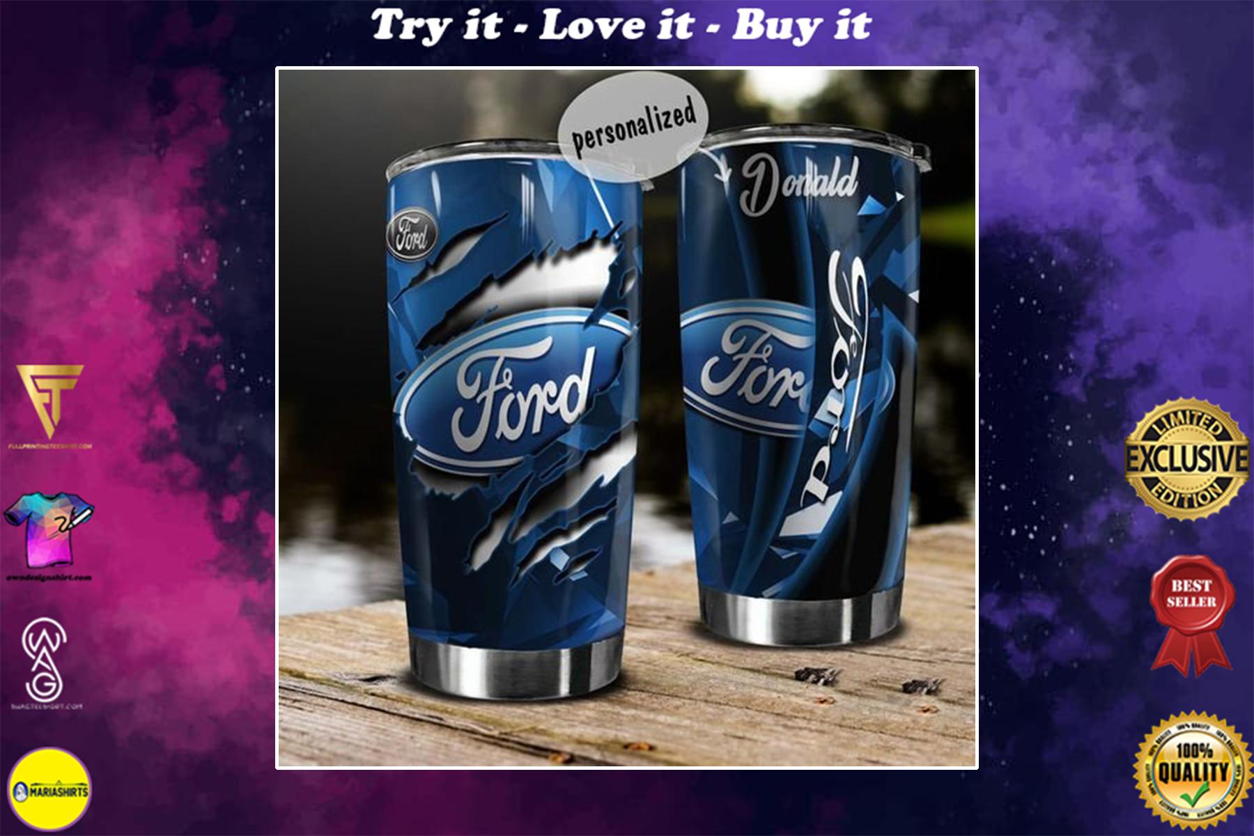 [special edition] custom name ford motor symbol tumbler - maria
