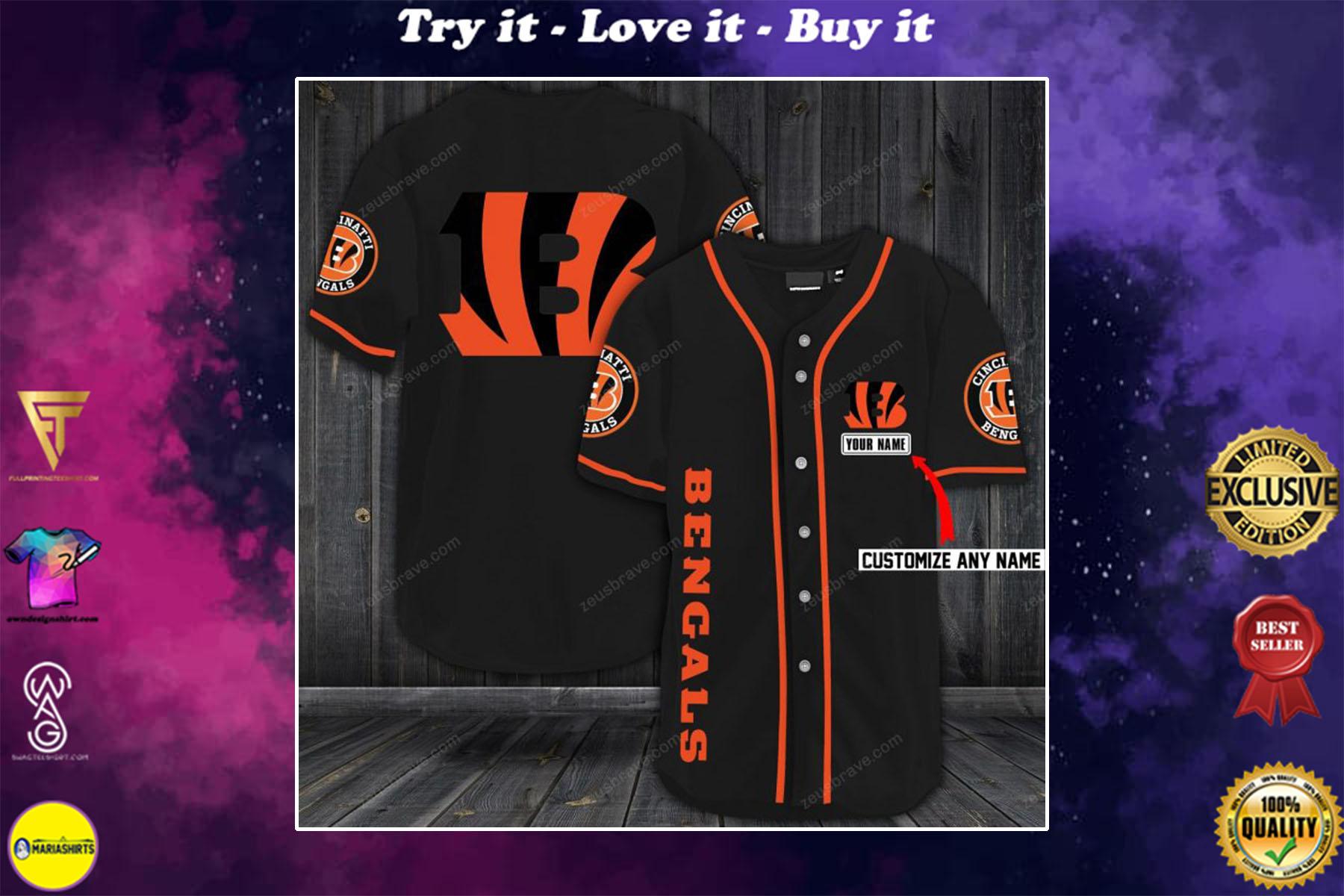 [special edition] custom name jersey cincinnati bengals shirt - maria
