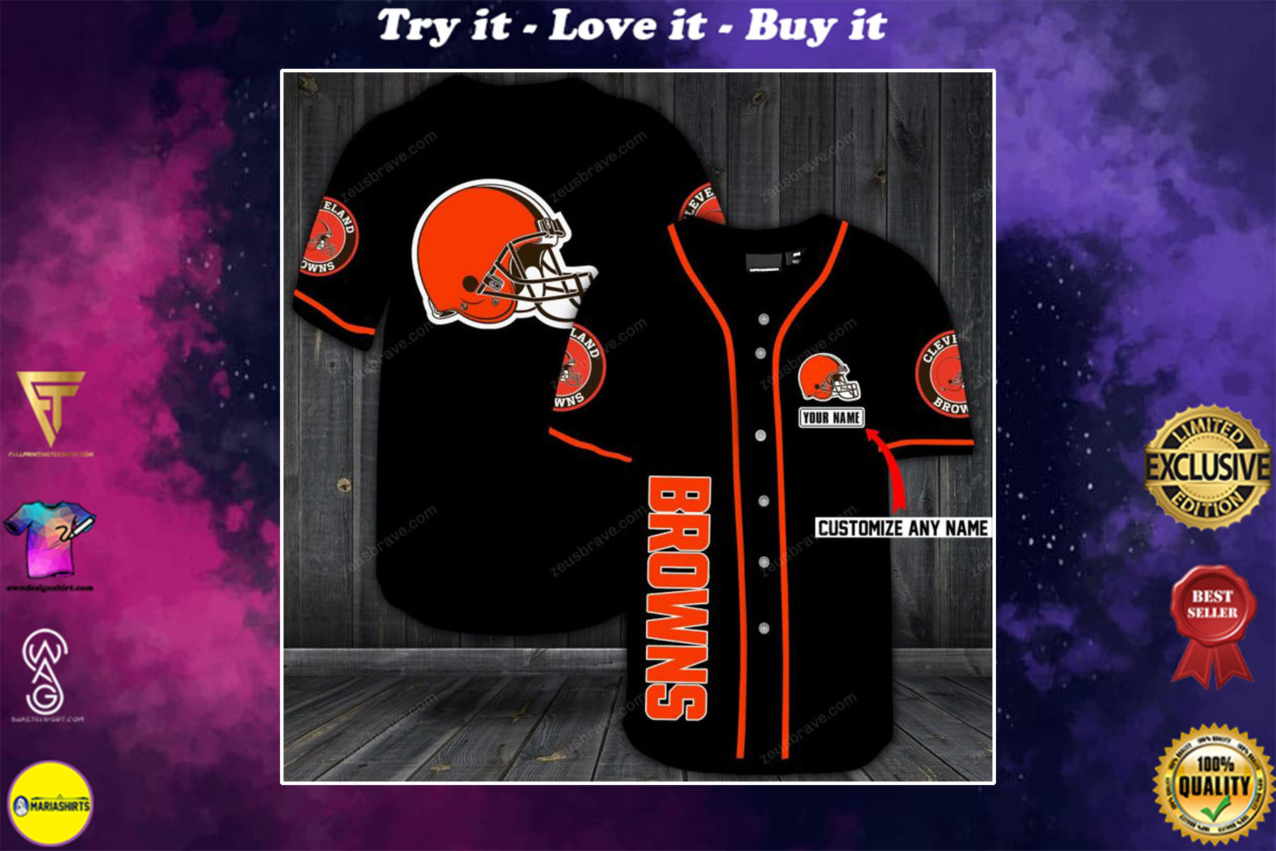 [special edition] custom name jersey cleveland browns shirt - maria