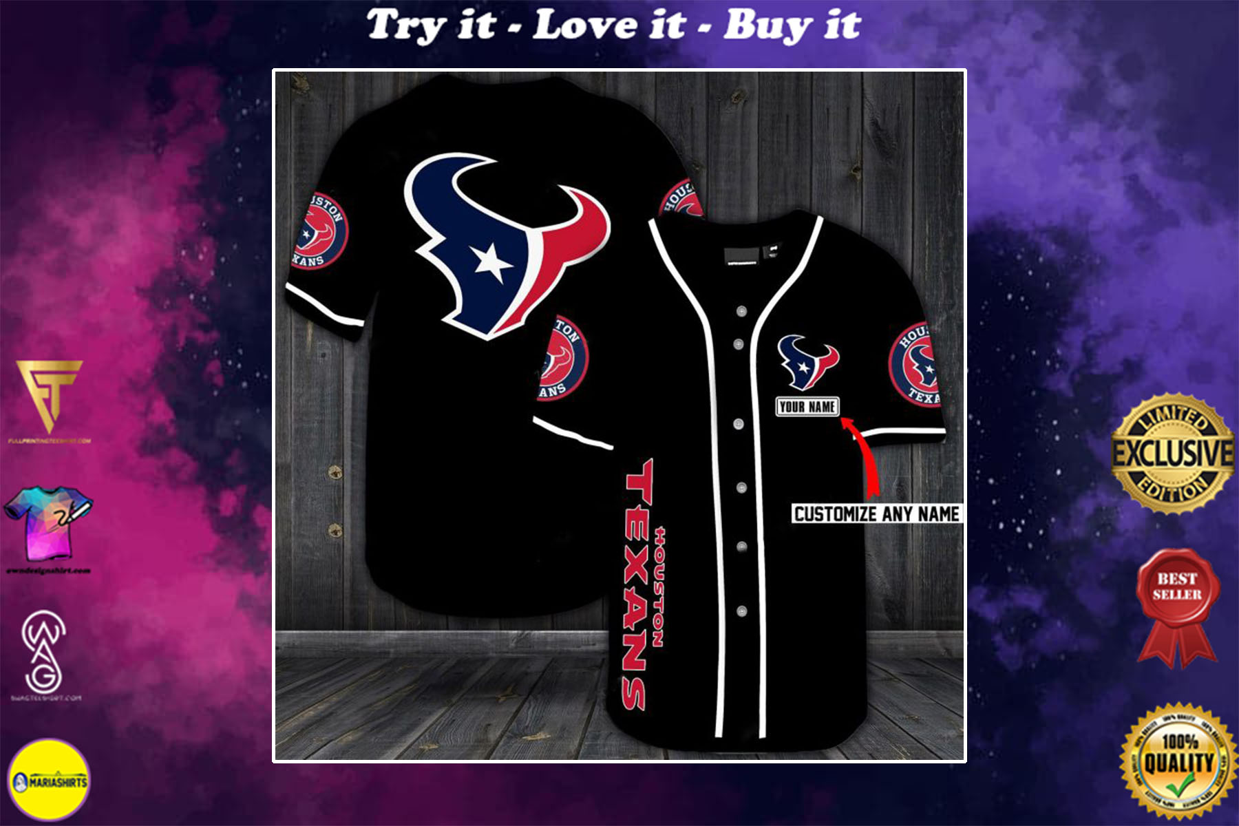 [special edition] custom name jersey houston texans shirt - maria
