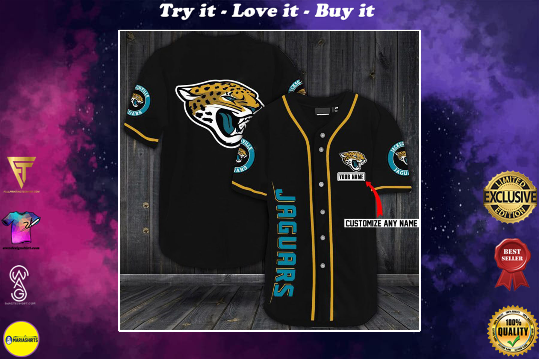 [special edition] custom name jersey jacksonville jaguars shirt - maria