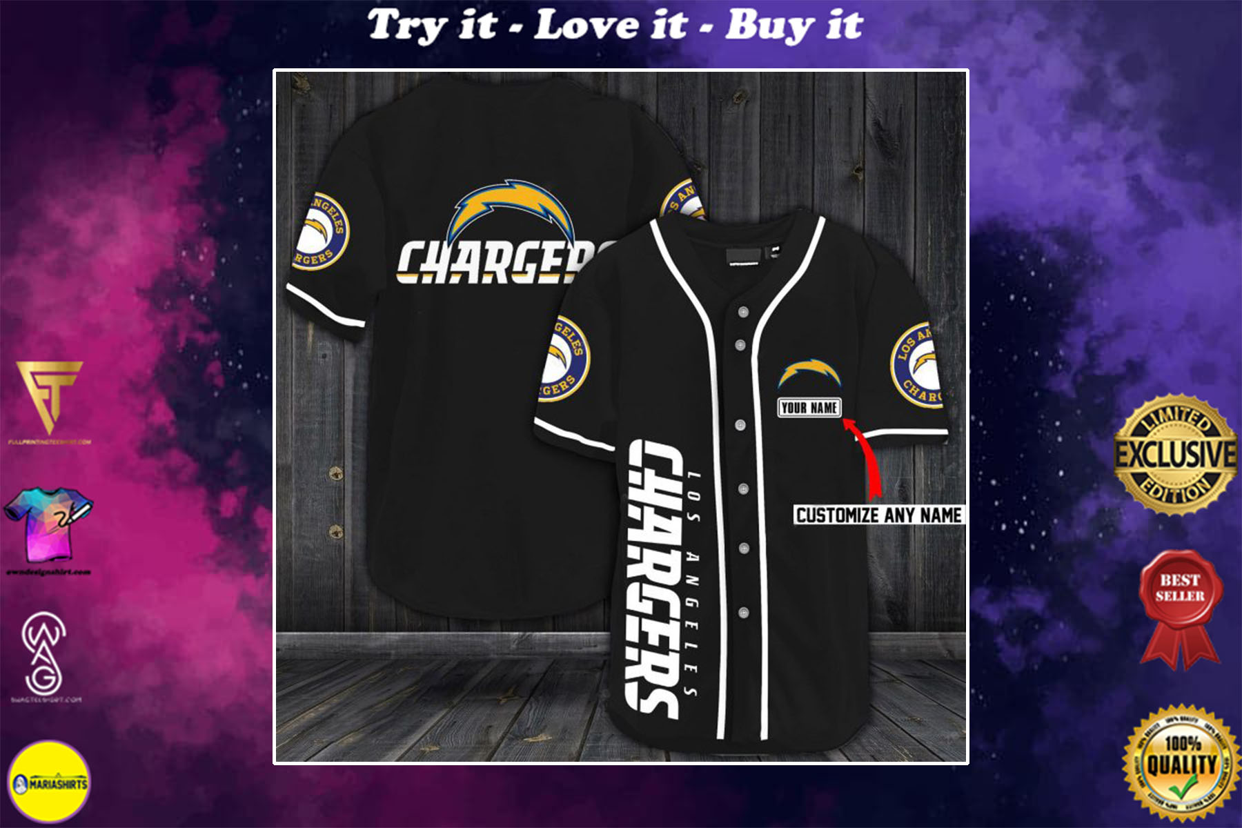 [special edition] custom name jersey los angeles chargers shirt - maria