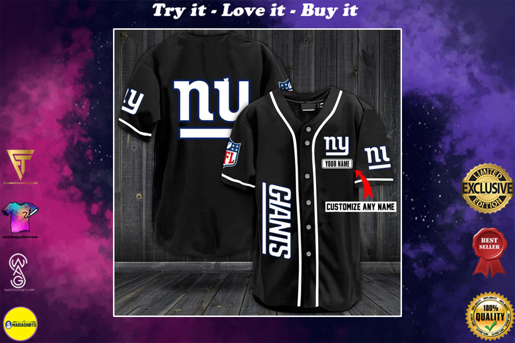 [special edition] custom name jersey new york giants shirt - maria