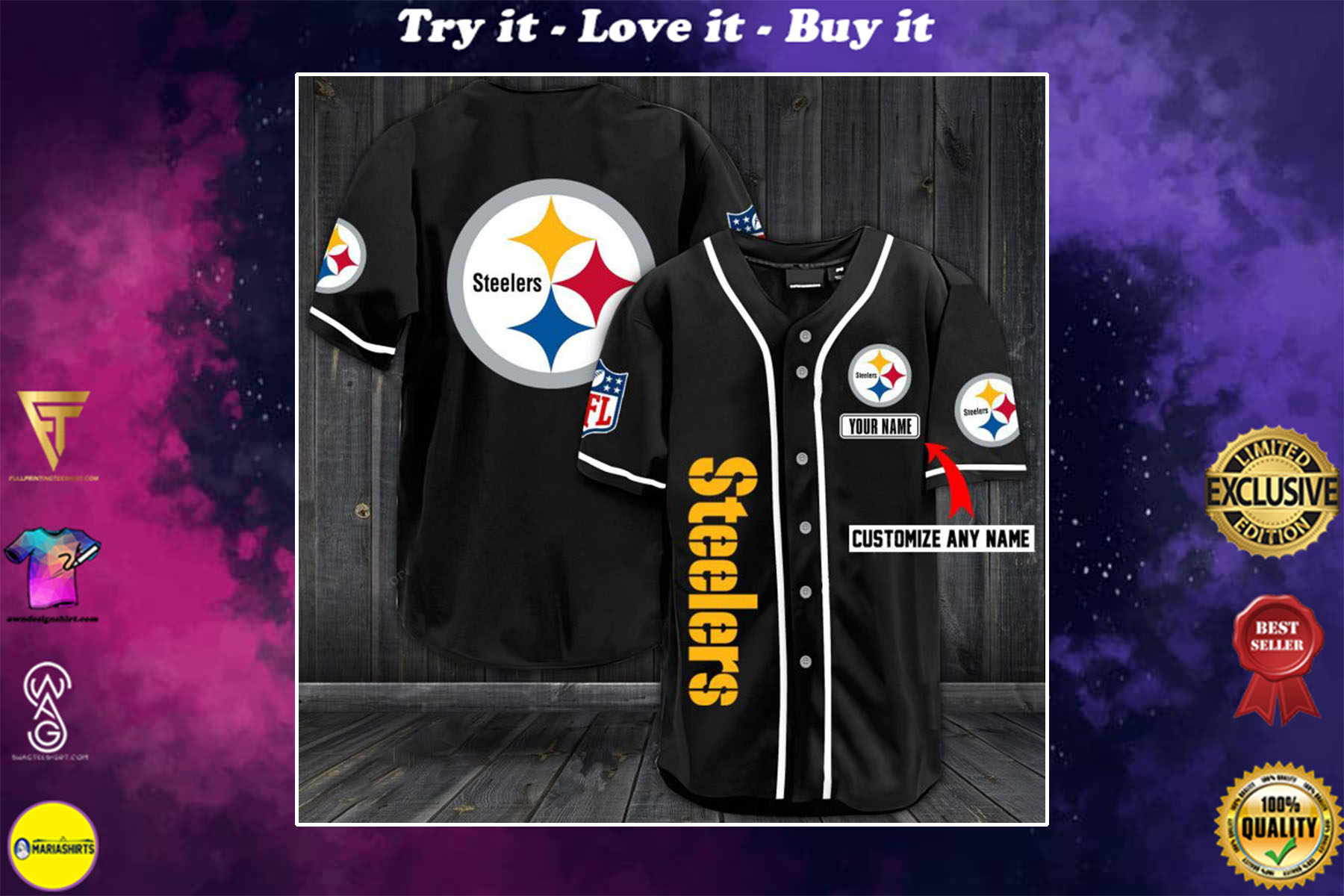 [special edition] custom name jersey pittsburgh steelers shirt - maria