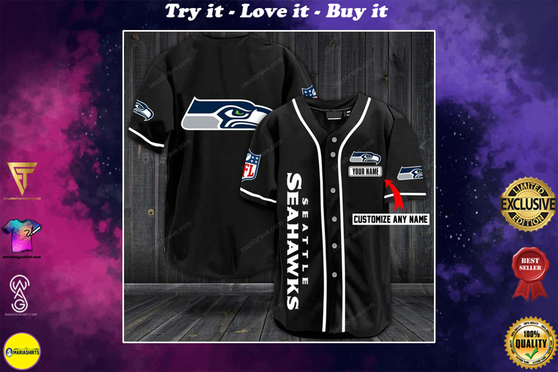 [special edition] custom name jersey seattle seahawks shirt - maria