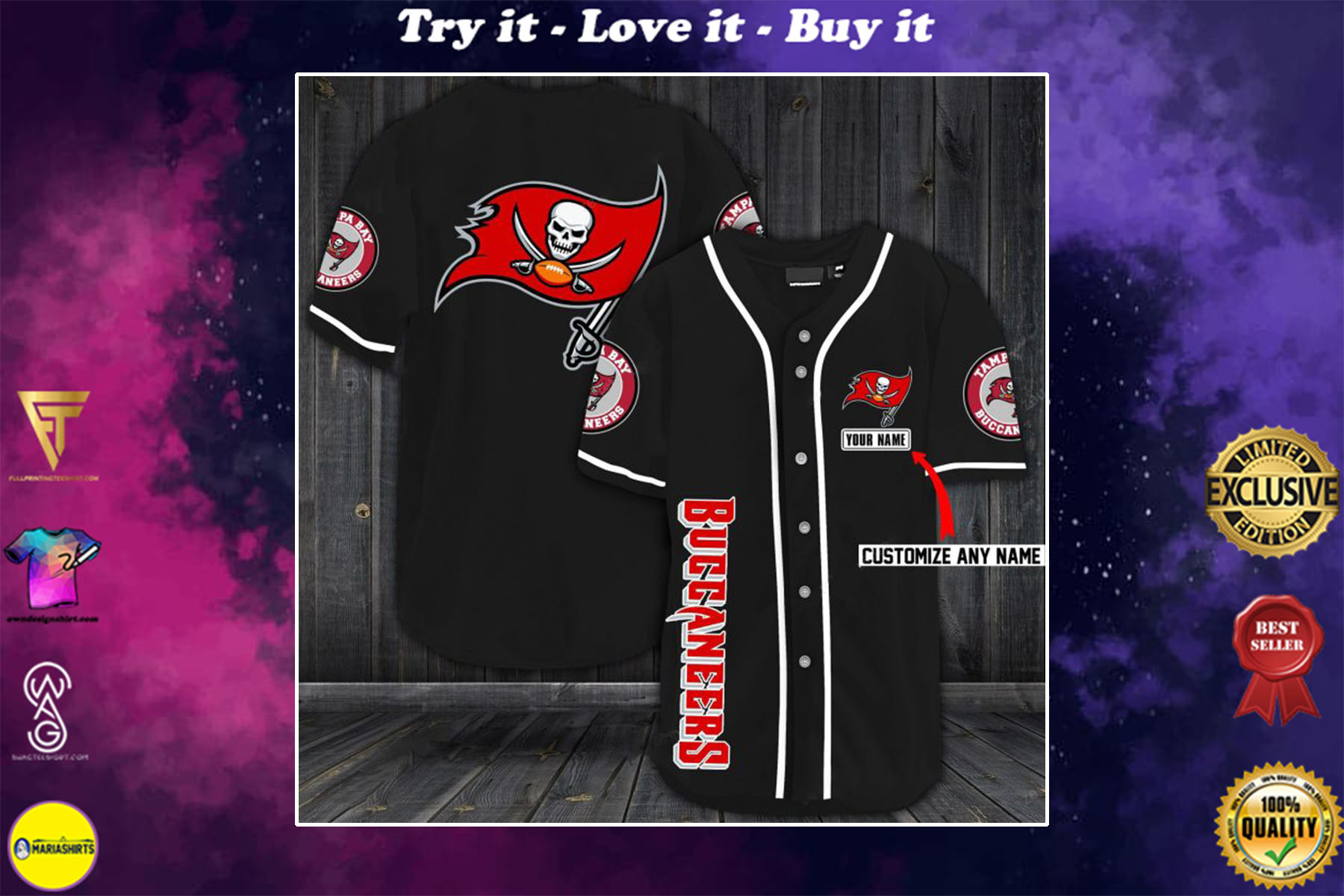 [special edition] custom name jersey tampa bay buccaneers shirt - maria