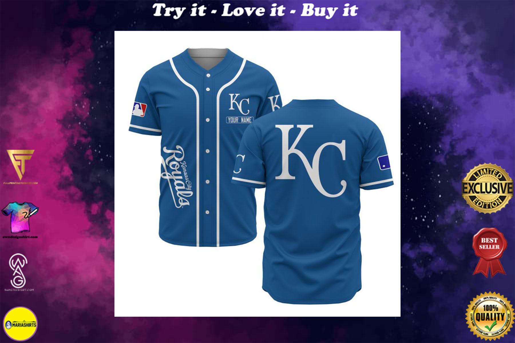 [special edition] custom name kansas city royals baseball shirt - maria