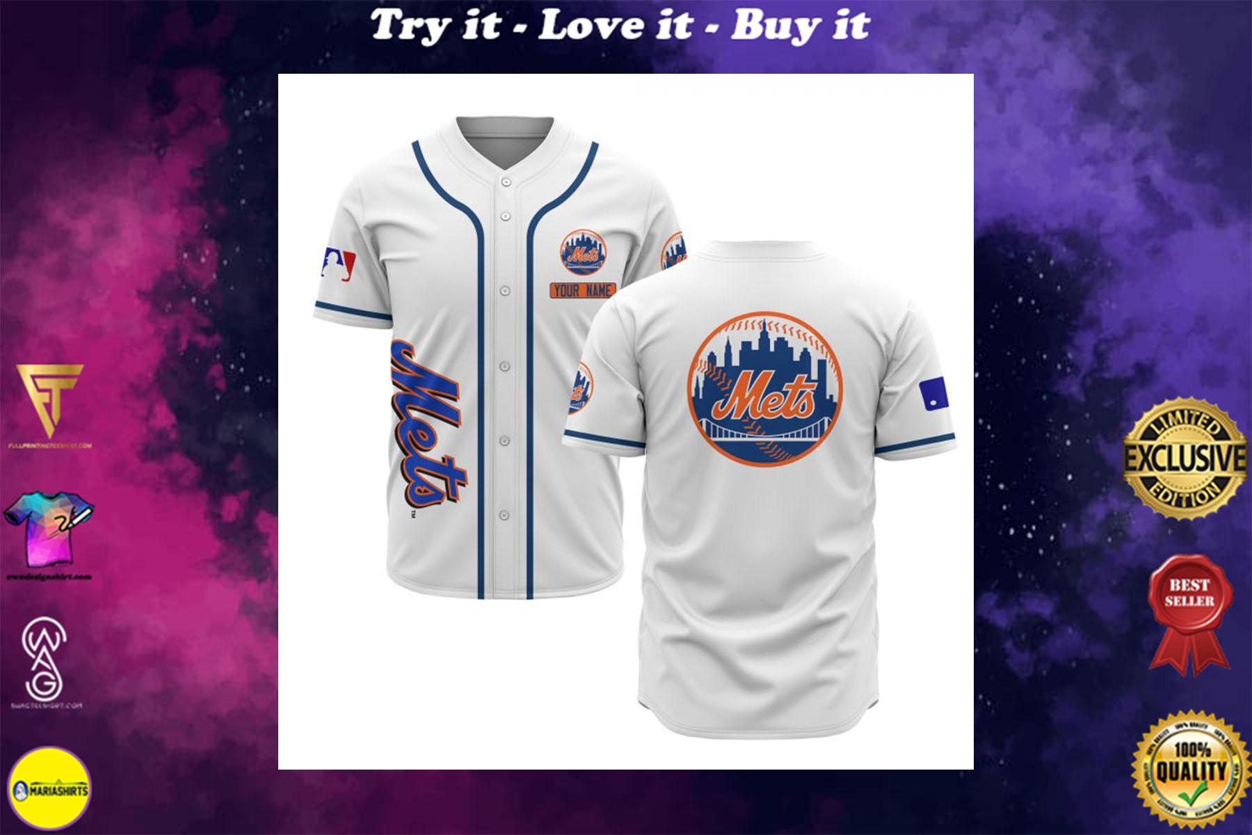 [special edition] custom name new york mets baseball shirt - maria