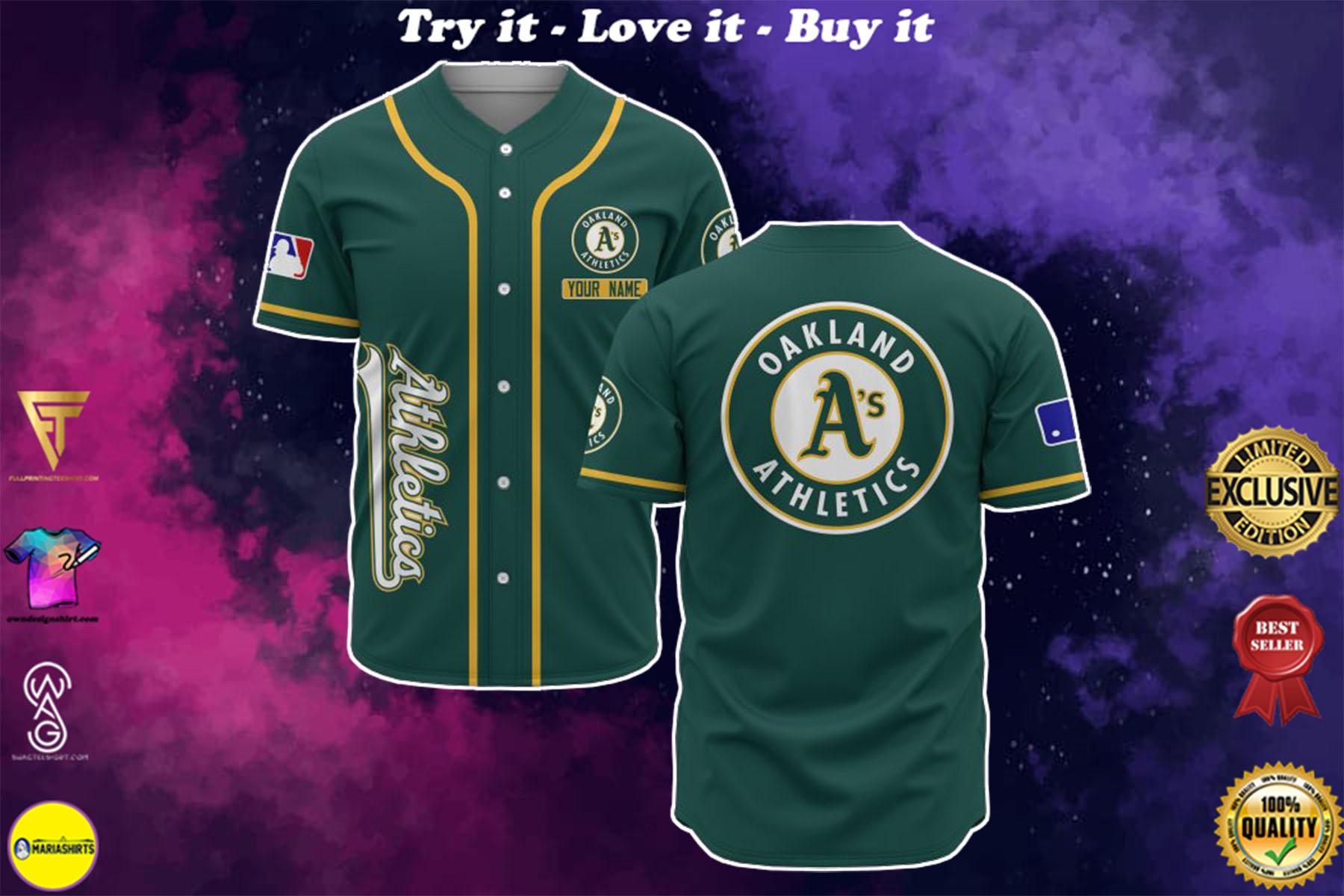 [special edition] custom name oakland athletics baseball shirt - maria