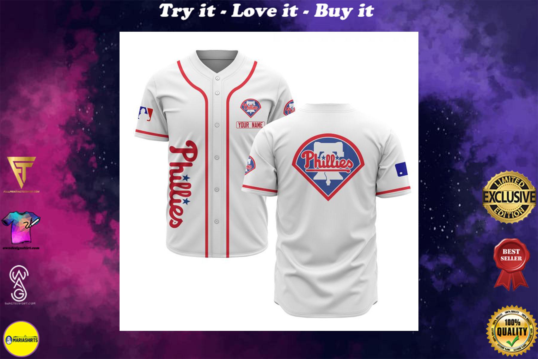 [special edition] custom name philadelphia phillies baseball shirt - maria