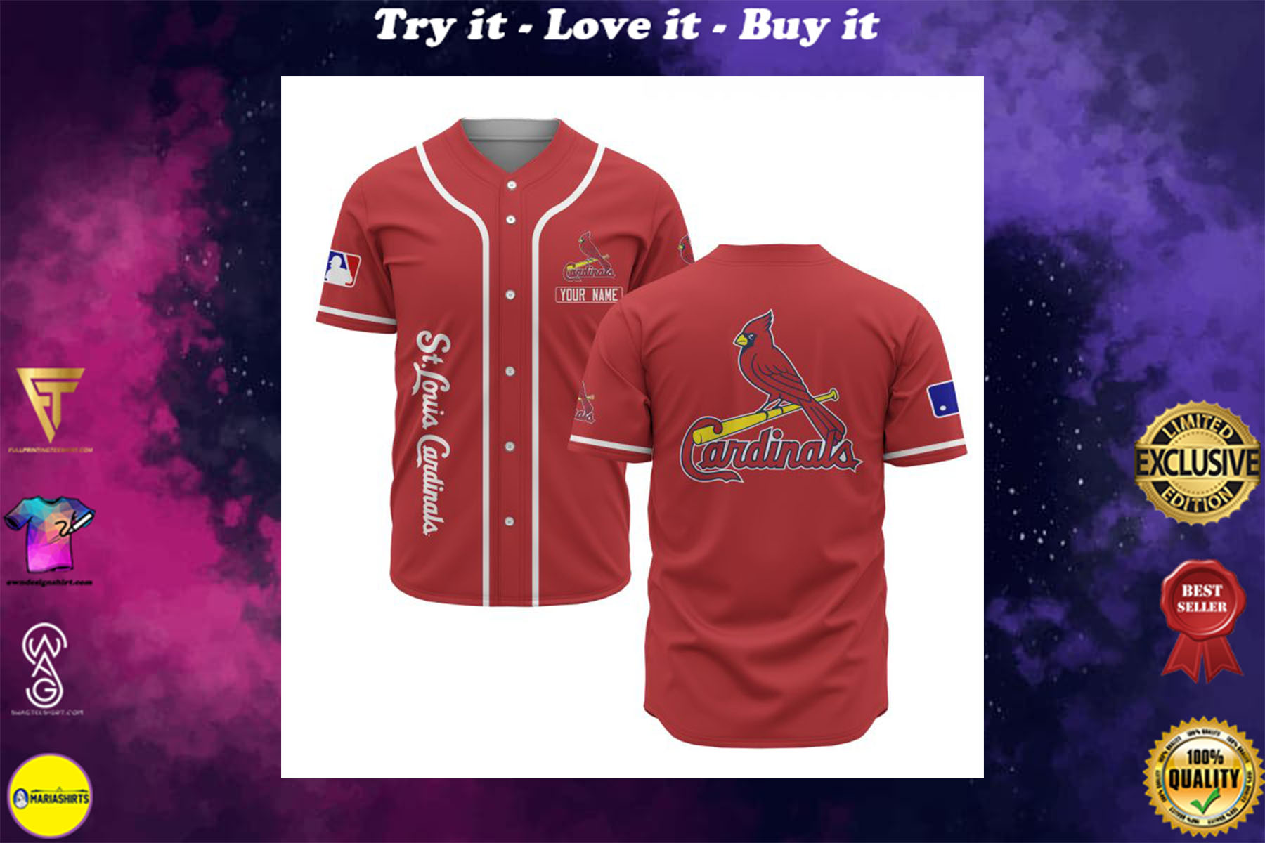 [special edition] custom name st louis cardinals baseball shirt - maria