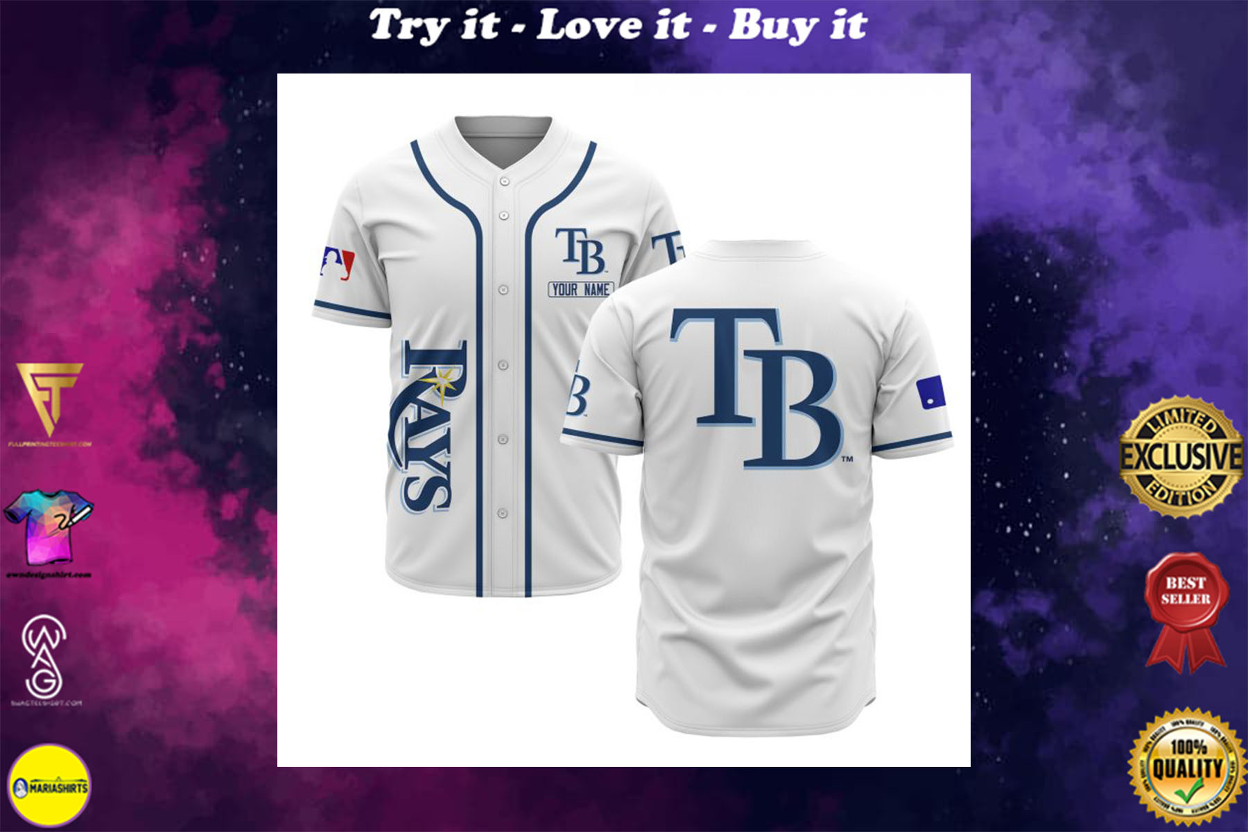[special edition] custom name tampa bay rays baseball shirt - maria