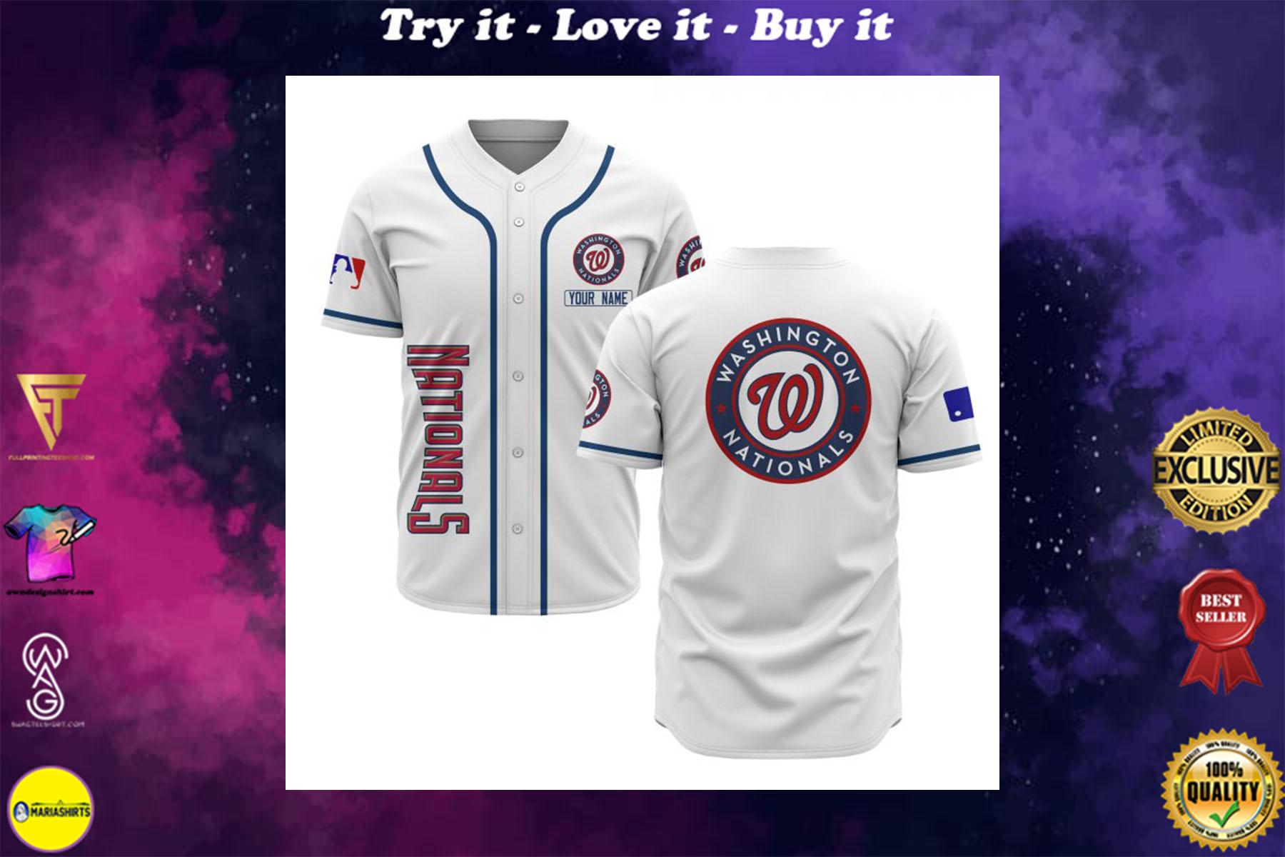 [special edition] custom name washington nationals baseball shirt - maria